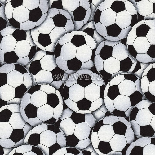 Cotton Print Yarmulkes Sports Soccer White