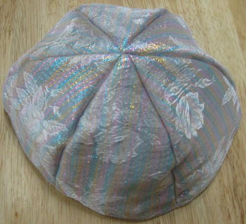 Brocade Yarmulkes 6 Panels - Lined - Colored On White