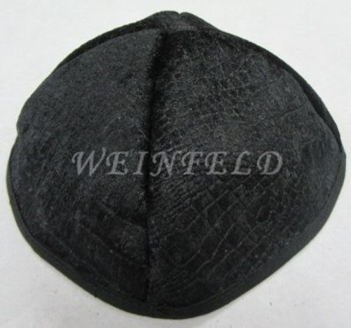 Alligator Yarmulkes - Black with Black Rim