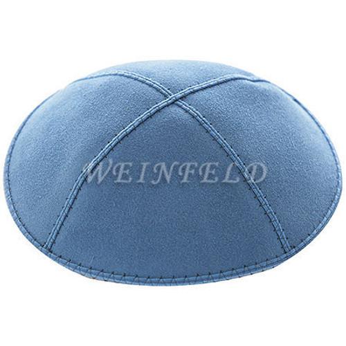 Genuine Suede Kippah - Solid Colors - Wedge Blue