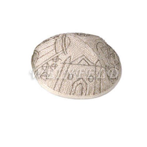 Yair Emanuel Modern Yarmulkes - Hand Embroiderey Kippah - Jerusalem Silver