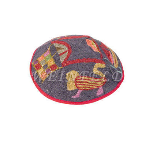 Yair Emanuel Modern Yarmulkes - Hand Embroiderey Kippah - Lions Color