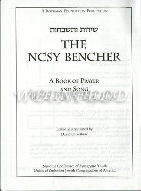 Benching and Zemiros Hebrew and English Transliterated and Translated - Plain White Covers