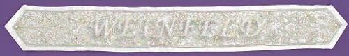 Custom Atarah - Neckband - Silver Bullion Embroidery  Quality Handcrafted