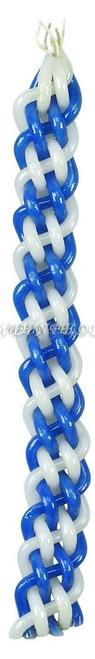 Havdalla Candle - Shiny - Blue White