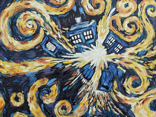 Doctor Who Yarmulkes Cotton - Exploding Tardis