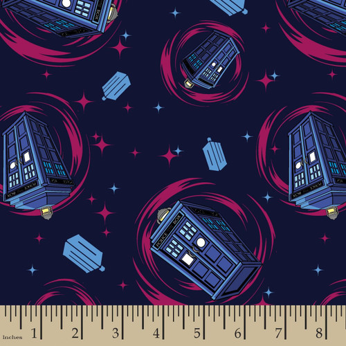 Doctor Who Yarmulkes Cotton - Phone Booth