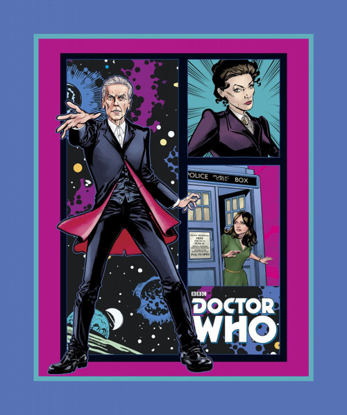 Doctor Who Yarmulkes Cotton - PANEL - Telephone Box