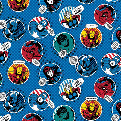 Marvel Yarmulkes Cotton - BADGES - Comics - Blue