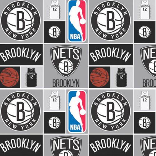 NBA Basketball Yarmulkes Cotton - PATCH - Brooklyn Nets