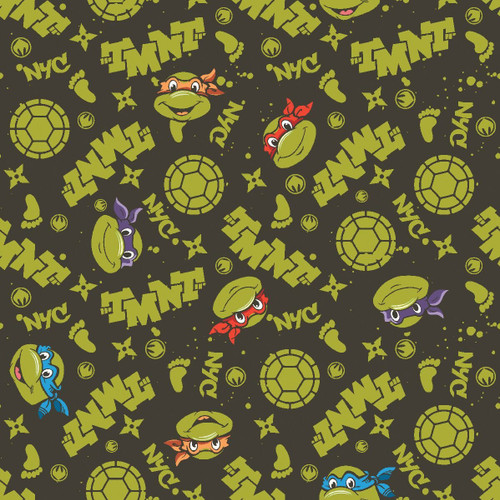 Nickelodeon Yarmulkes Cotton - Teenage Mutant Ninja Turtles Retro TMNT in NYC