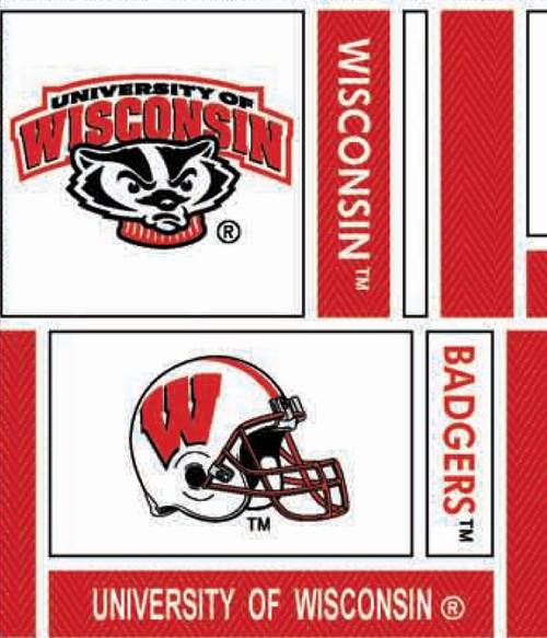NCAA - Cotton Yarmulkes - Wisconsin University