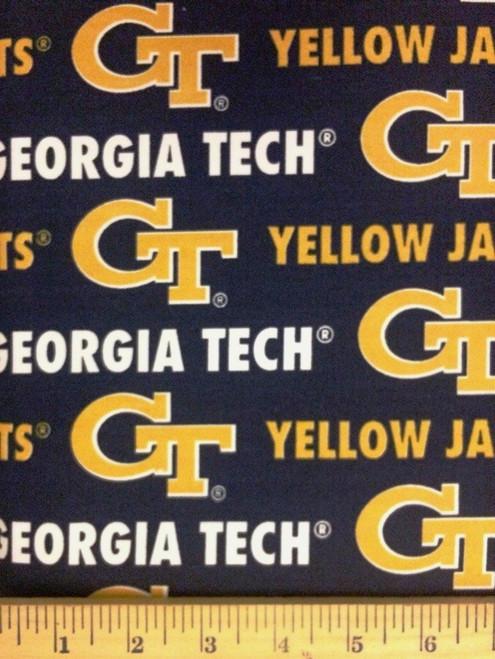 NCAA - Twill Yarmulkes - GEORGIA TECH YELLOW JACKETS