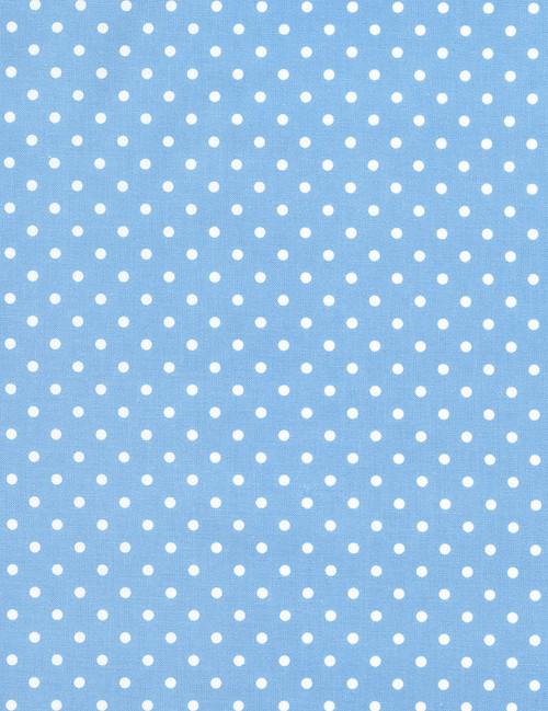 Cotton Print Yarmulkes Dot - SKY