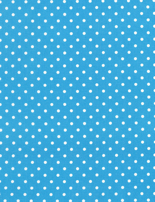 Cotton Print Yarmulkes Dot - CERULEAN