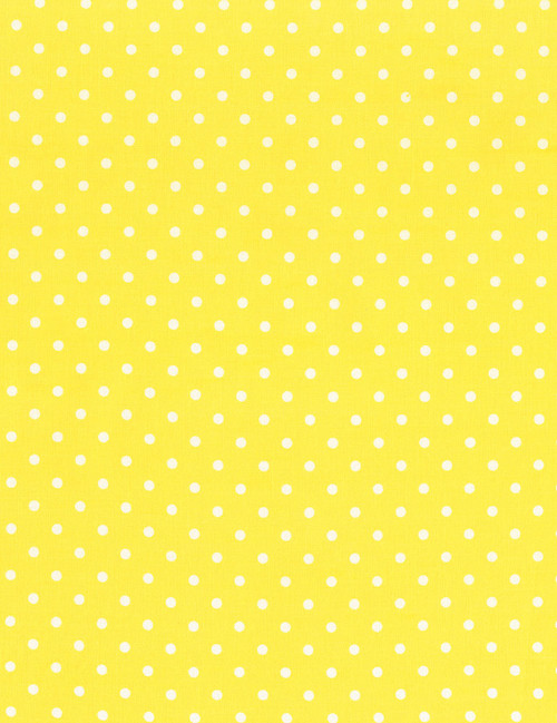 Cotton Print Yarmulkes Dots - LEMON