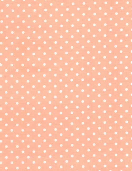 Cotton Print Yarmulkes Dot - PEACH