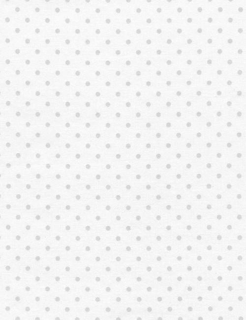 Cotton Print Yarmulkes Polka Dot Basic - SILVER