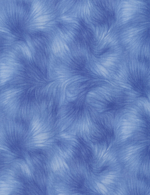 Cotton Print Yarmulkes Viola Basic - BLUE