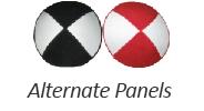 Suede Alternate Panels Yarmulkes