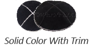 Solid Colors With Trim Suede Yarmulkes