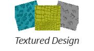Suede With Textured Design (Embossed) Yarmulkes