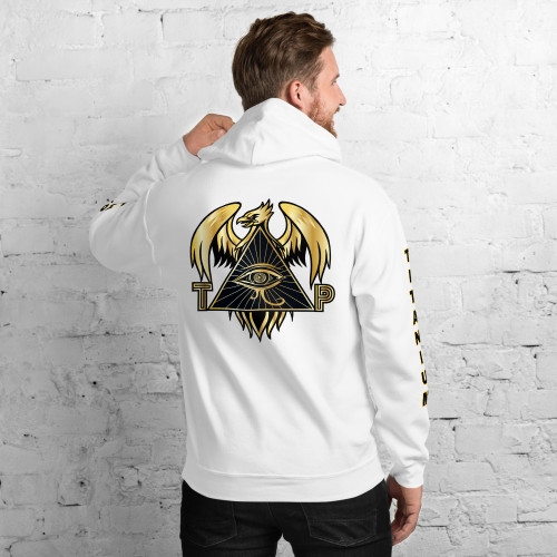 TPI Men's Unisex Hoodie w/ writing on the sleeve