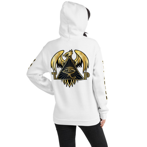TPI Women's Unisex Hoodie w/ writing on the sleeve