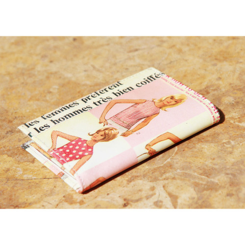 Miss Sixty - Women's Printed Leather Wallet Old Magazine