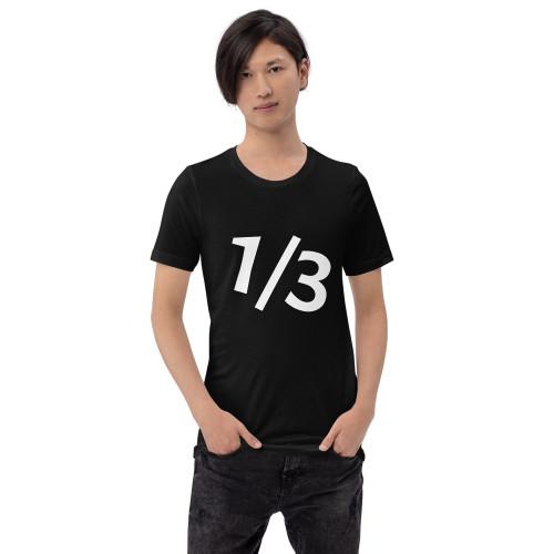 Black 1/3 Short-Sleeve Unisex T-Shirt