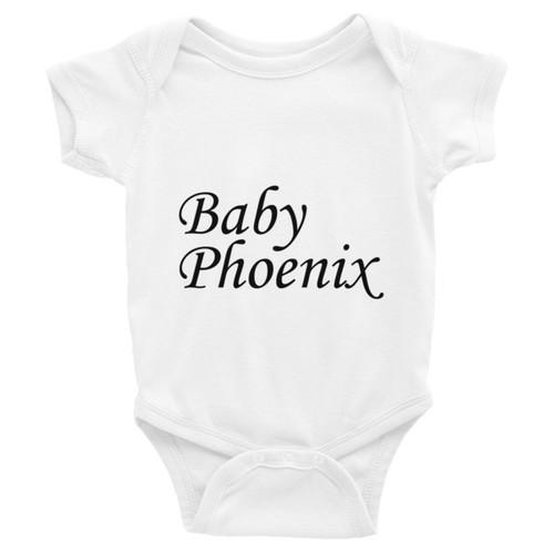 Baby Phoenix Black Logo Infant Bodysuit