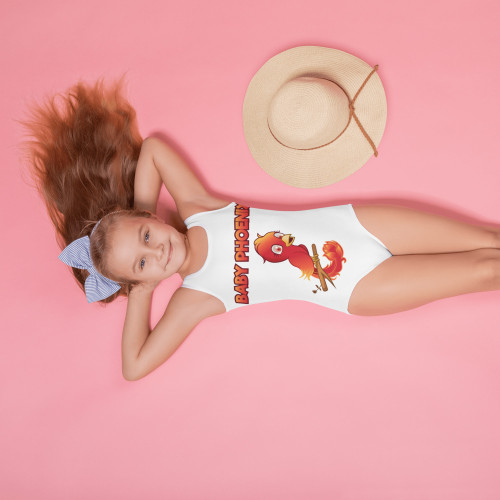 Baby Phoenix 2-7 All-Over Print Kids Swimsuit