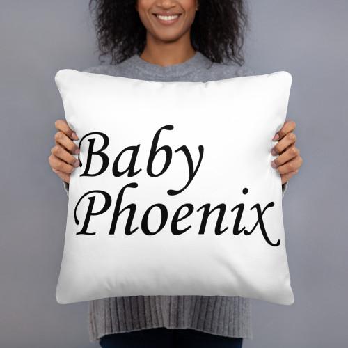 Baby Phoenix Square Pillow