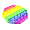 Octagon Rainbow Silicone Push Pop It Bubble Fidget Toy
