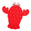 Lobster Silicone Push Pop It Bubble Fidget Toy NZ
