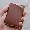 The Two Pocket Classic Tan Card Holder