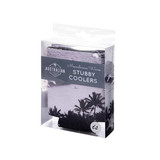 Monochrome Waves Stubby Coolers - Set of 4