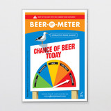 Beer-O-Meter Fridge Magnet