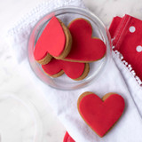 Gingerbread Red Hearts Twin Pack