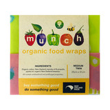 Butterflies Medium Beeswax Food Wraps - Twin Pack with FREE Small