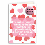 Approximate Number of Years Anniversary Card