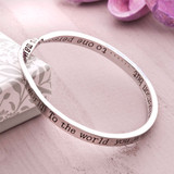 Special Person Entwined Message Bangle