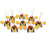 Buzzy Bee Christmas Decoration (Pack of 8)