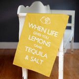 When Life Gives You Lemons Tea Towel