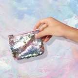 Pearlescent Reversible Sequin Coin Purse