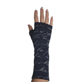 Letter Print Fingerless Gloves