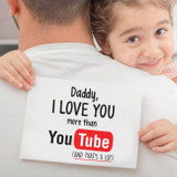 Daddy I love you more than You Tube Card nz