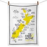 NZ Food & Wine Road Trip Tea Towel