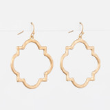 Gold Brocante Square Earrings