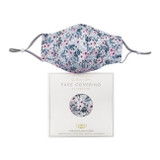 Willow & Rose Grey Floral Face Mask